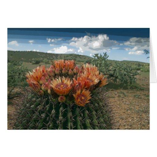 El cactus florece 011a tarjeta de felicitación