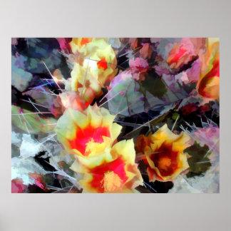 El cactus florece brillante y espinoso impresiones