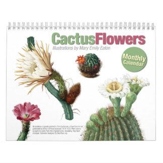 El cactus florece el calendario