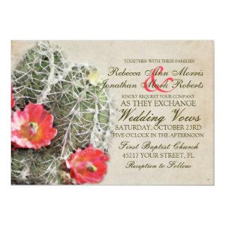 El cactus florece la invitación del boda invitación 12,7 x 17,8 cm