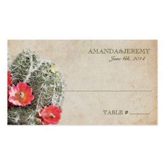 El cactus florece tarjetas del asiento tarjeta de negocio