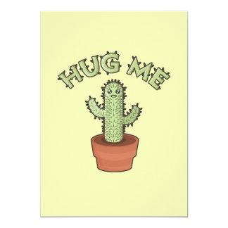 """El cactus me abraza invitación 5"""" x 7"""""""