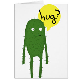 el cactus quiere un cierto amor tarjeta de felicitación