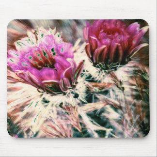 El cactus rosado florece Mousepad Alfombrillas De Ratones