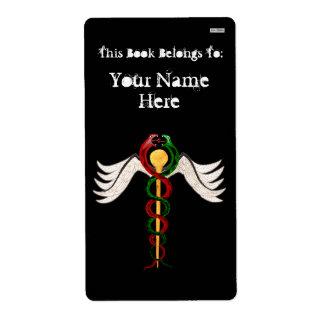 El caduceo (Bookplate) Etiqueta De Envío