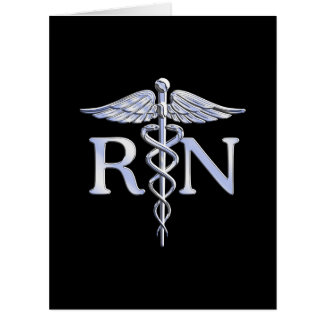 El caduceo del RN de la enfermera registradoa Tarjeta De Felicitación Grande