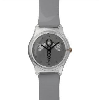 El caduceo (negro) relojes