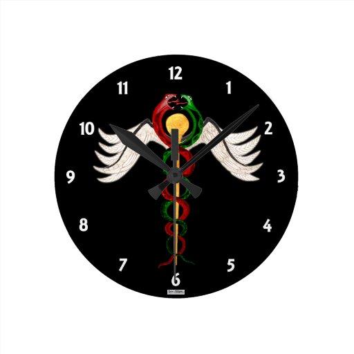 El caduceo reloj