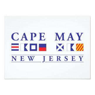 """El Cae puede New Jersey Invitación 5.5"""" X 7.5"""""""