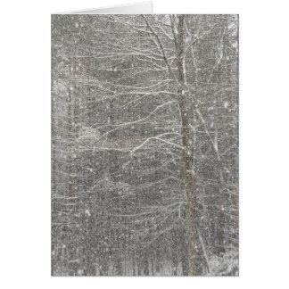 El caer de la nieve tarjeta de felicitación