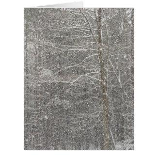 El caer de la nieve tarjeta de felicitación grande