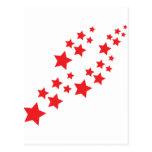 el caer de las estrellas del rojo postal