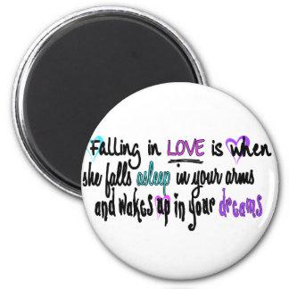 El caer en amor imán redondo 5 cm