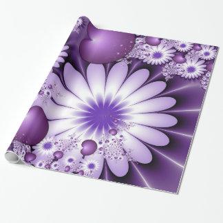 El caer en arte del fractal del extracto del amor papel de regalo
