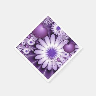El caer en arte del fractal del extracto del amor servilleta de papel
