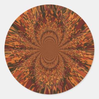 El caer en otoño pegatina redonda