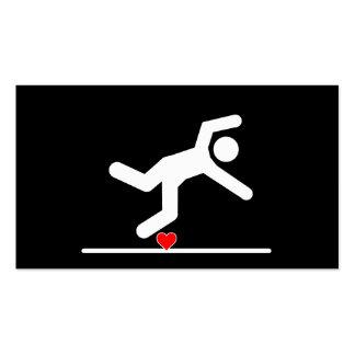 El caer en pictograma del amor tarjetas de visita