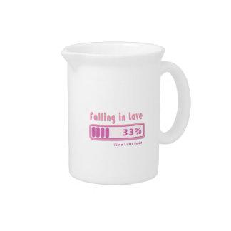 El caer en porcentaje del amor jarras de beber