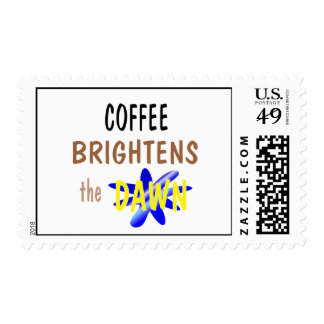 El café aclara el amanecer estampillas
