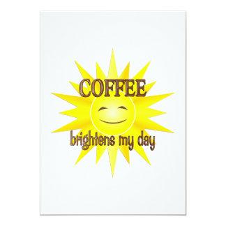 El café aclara invitacion personalizada