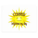 El café aclara postales