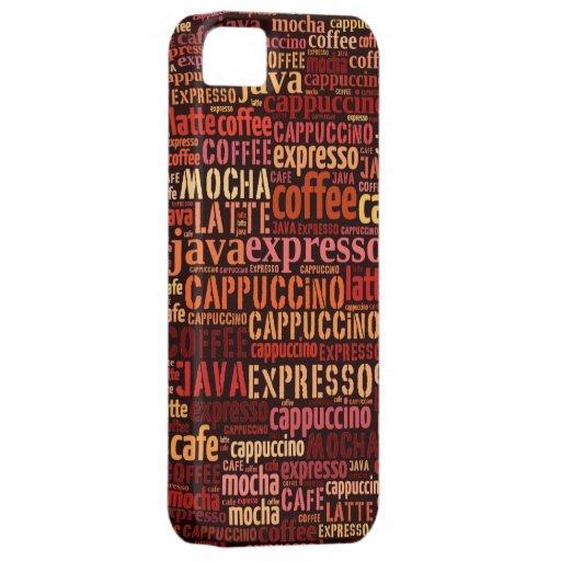 El café bebe el collage del texto funda para iPhone SE/5/5s