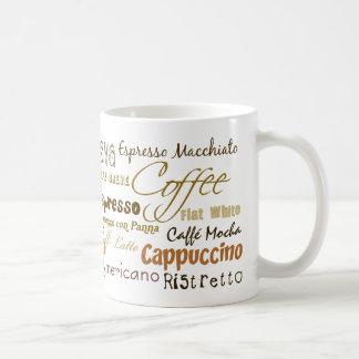 El café bebe la taza de café