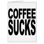 El café chupa tarjeta