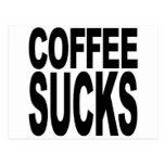 El café chupa tarjetas postales