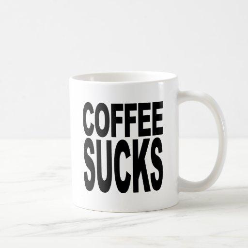 El café chupa taza de café