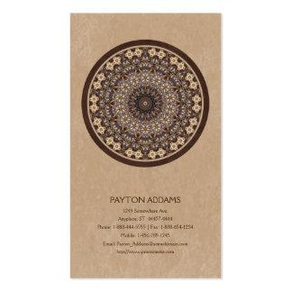 El café colorea la mandala abstracta tarjeta personal