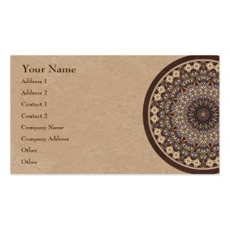 El café colorea la mandala abstracta tarjetas de visita