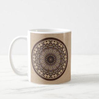 El café colorea la mandala abstracta tazas de café