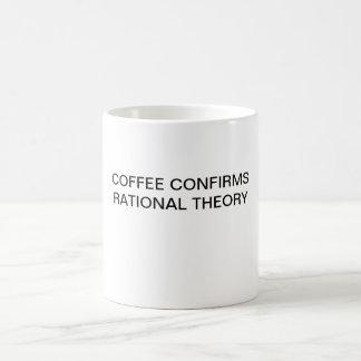 EL CAFÉ CONFIRMA TEORÍA RACIONAL TAZA CLÁSICA