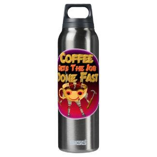 El café consigue el trabajo hecho rápidamente botella isotérmica de agua