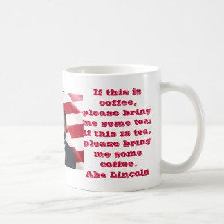 El café de Abe y taza del té