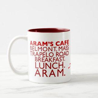 El café de Aram, Belmont, mA Tazas De Café