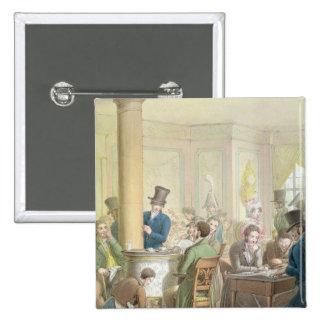 El café de Commerce, del 'cuadro de París Pin Cuadrada 5 Cm