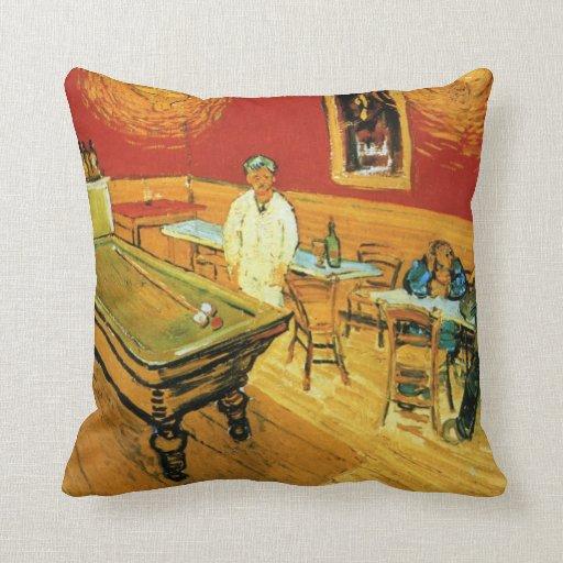 El café de la noche de Vincent van Gogh Almohadas