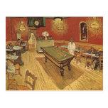 El café de la noche de Vincent van Gogh Postal