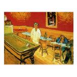El café de la noche de Vincent van Gogh Tarjetas Postales