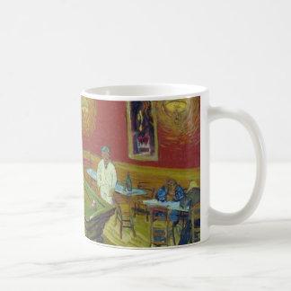 El café de la noche - Van Gogh Tazas De Café