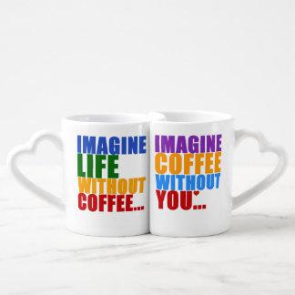 el café de la tipografía partners para siempre tazas para parejas