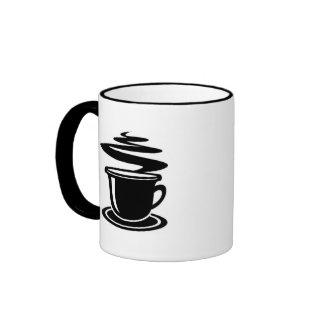 El café debe ser tan dulce como amor taza a dos colores