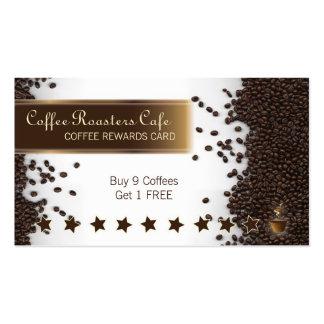 El café del café recompensa la tarjeta de visita d