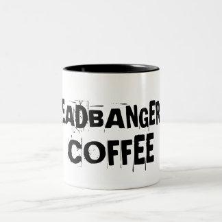 El café del Headbanger Taza Dos Tonos
