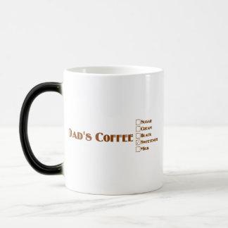 El café del papá con el edulcorante tazas