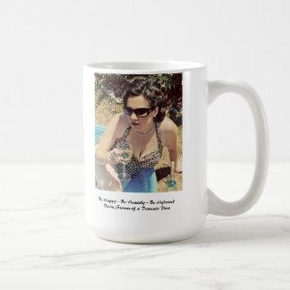 El café/el té/los licores nacionales de la diva as taza de café