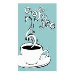 el café encrespa lealtad tarjeta de visita