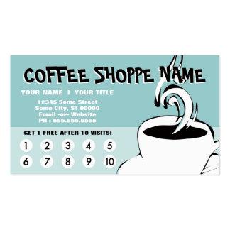el café encrespa lealtad tarjetas de visita